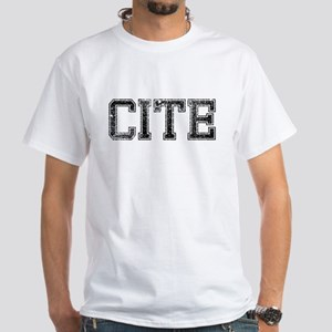 CITE, Vintage White T-Shirt