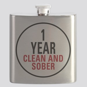 1 Year Clean and Sober Flask
