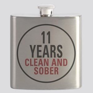 11 Years Clean and Sober Flask
