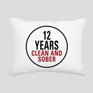 12 Years Clean and Sober Rectangular Canvas Pillow