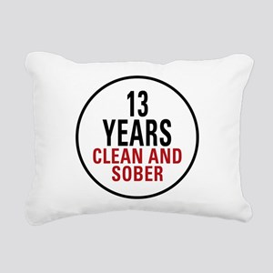 13 Years Clean and Sober Rectangular Canvas Pillow