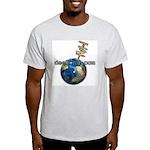 Earth signpost Ash Grey T-Shirt