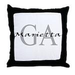 Marietta thru GA Throw Pillow