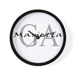 Marietta thru GA Wall Clock