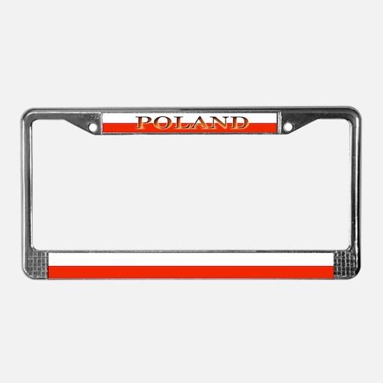 Poland Polish Blank Flag License Plate Frame
