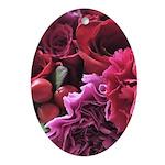 beautiful bouquet Oval Ornament