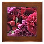 beautiful bouquet Framed Tile