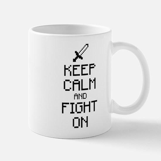 Keep calm and fight on 1c Mug