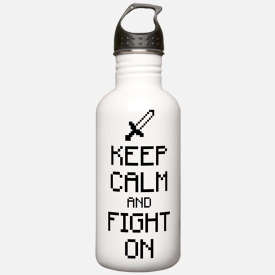 Keep calm and fight on 1c Water Bottle