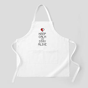 Keep calm stay alive 2c Apron
