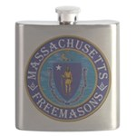 Massachusetts Masons Flask