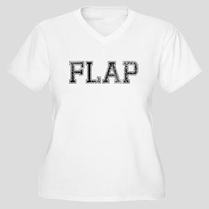 FLAP, Vintage Women's Plus Size V-Neck T-Shirt