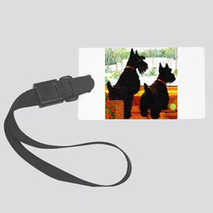 A Scottie Christmas Large Luggage Tag