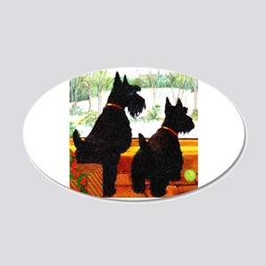 A Scottie Christmas 20x12 Oval Wall Decal