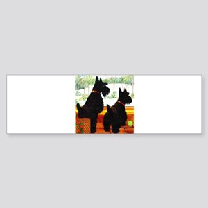 A Scottie Christmas Sticker (Bumper)