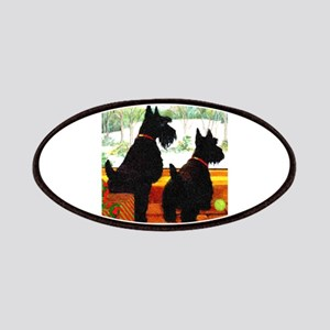 A Scottie Christmas Patches