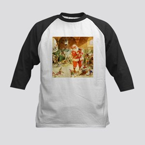 Santa in the North Pole Stabl Kids Baseball Jersey