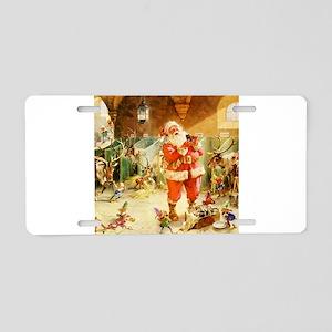 Santa in the North Pole Sta Aluminum License Plate