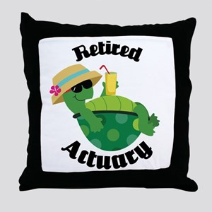 Retired Actuary Gift Throw Pillow