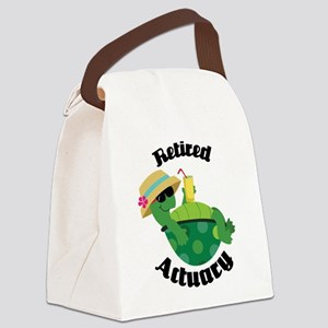 Retired Actuary Gift Canvas Lunch Bag
