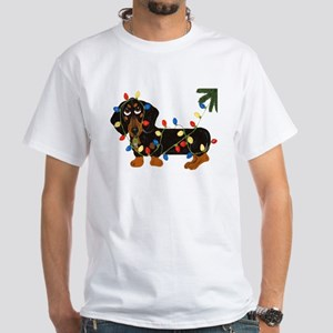 Dachshund (Blk/Tan)... White T-Shirt