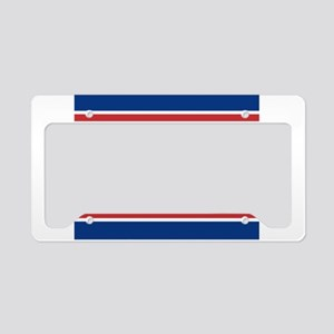 Trump 2020 Red w Blue License Plate Holder
