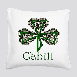 Cahill Shamrock Square Canvas Pillow