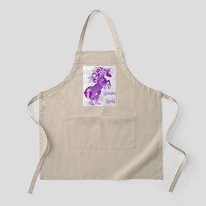 Horses Rock- Purple BBQ Apron