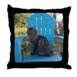 adirondack cat Throw Pillow
