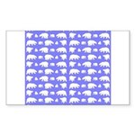 Polar Bear Pattern Sticker (Rectangle 50 pk)