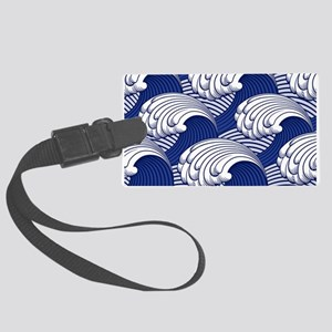 Japanese Wave Pattern Luggage Tag