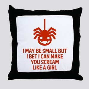 Scream like a girl Throw Pillow