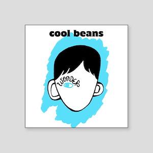 "WONDER ""Cool Beans"" Square Sticker 3"" x 3"""