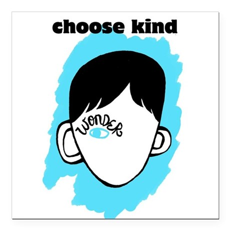wonder choose kind square car mag  3 x 3 by listing