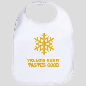 Yellow snow tastes good No.4 Bib