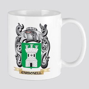 Carbonell Family Crest - Carbonell Coat of Ar Mugs