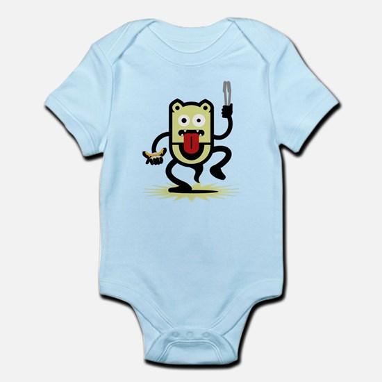 Grilling BBQ Monster (only) Infant Bodysuit
