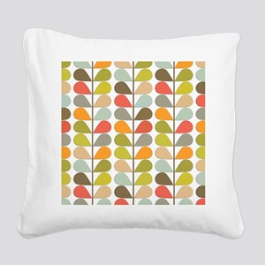 Retro 60s Midcentury Modern Square Canvas Pillow