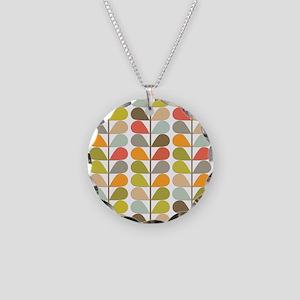 Retro 60s Midcentury Modern Necklace Circle Charm