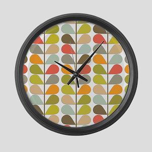 Retro 60s Midcentury Modern Large Wall Clock