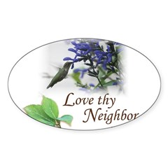 Love Thy Neighbor cup Decal