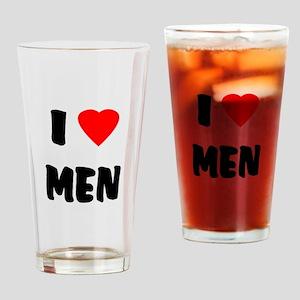 I Love Men Drinking Glass