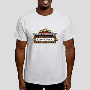 World's Greatest Law Clerk Light T-Shirt