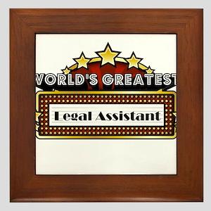 World's Greatest Legal Assistant Framed Tile