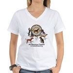 Logo + hounds Women's V-Neck T-Shirt