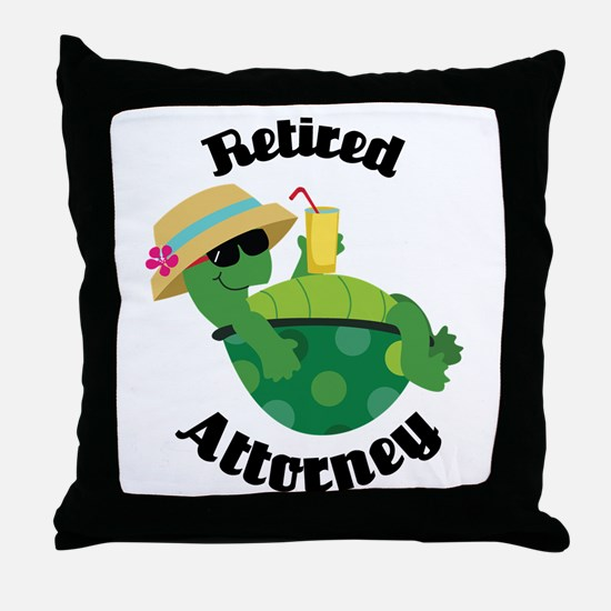Retired Attorney Gift Throw Pillow