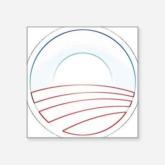 """Obama Trim Logo cafepress.png Square Sticker 3"""" x"""