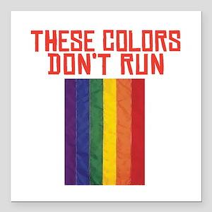 "CRAZYFISH these colors Square Car Magnet 3"" x 3"""
