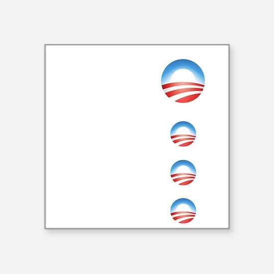 "obama emblems cafepress.png Square Sticker 3"" x 3"""