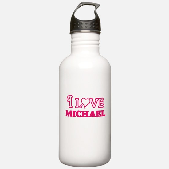 I Love Michael Water Bottle